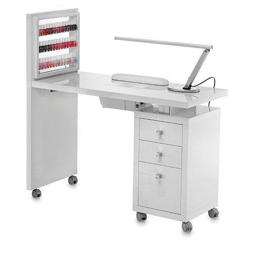 Table manicure display blanche aspiration - Table onglerie avec aspiration ...