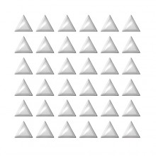 Strass triangles argent XFONG536