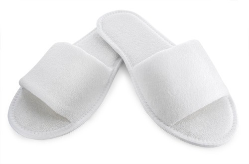 Mules blanches ouvertes XLING0136