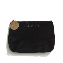 GOSH black velour cosmetic bag small 18x12cm GBCGS