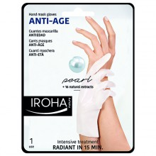 Gants Iroha Masque Anti-âge Pearl Mains Ongles x1 Paire