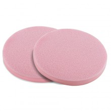 Eponges Humidifiees Rondes PVA Rose D7.5*0.8cm x2