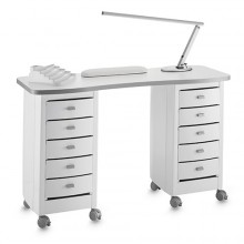 Table de manucure zip double blanche