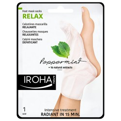 Chaussettes Iroha Masque Relaxant Menthe Pieds Ongles x1 Paire