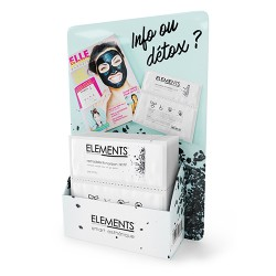 Presentoir comptoir masque charbon ELEMENTS
