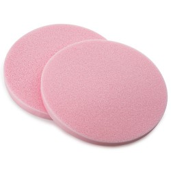 Eponges Humidifiees Rondes PVA Roses D11.5*0.8cm x2