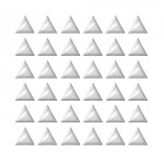Strass Triangles Argent x48